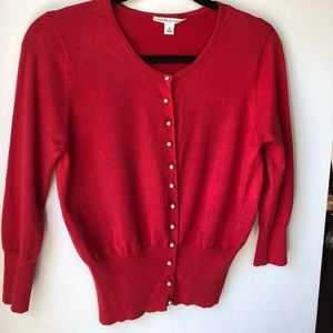 Great condition! Red fitted cardigan